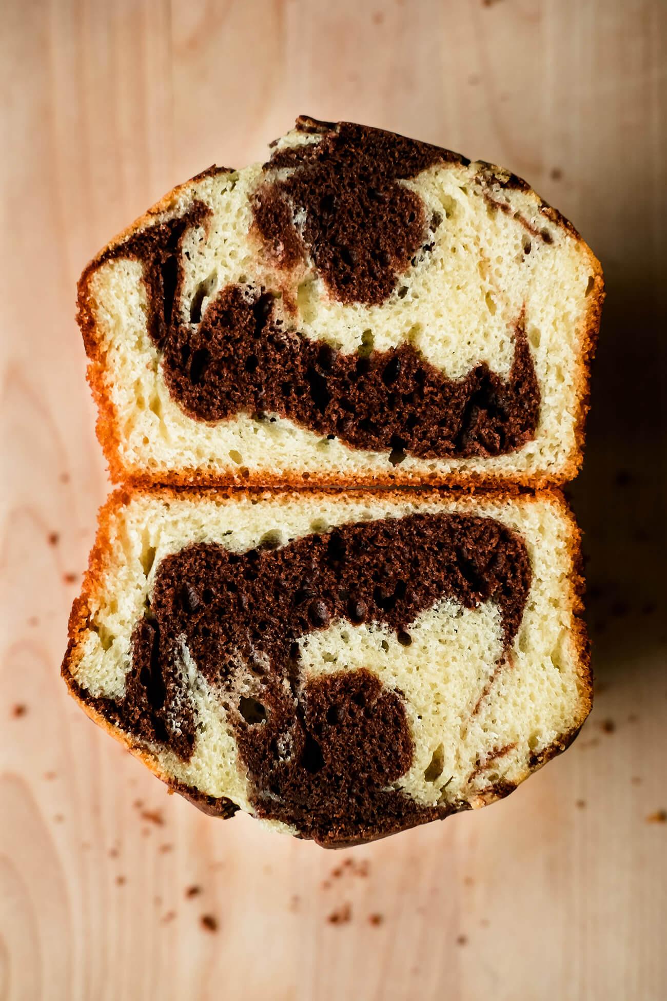 Gâteau marbré aérien et facile