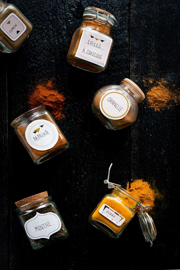 Étiquettes pour pots à épices
